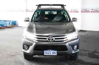 2017 Toyota Hilux GUN126R SR5 (4x4) Graphite 6 Speed Manual Dual Cab Utility.