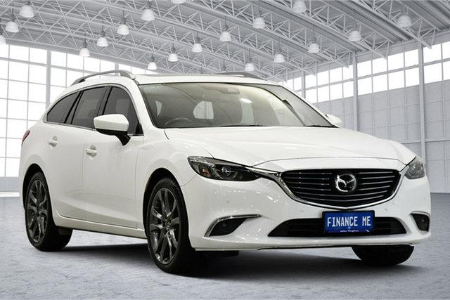 Used Mazda 6 GL1031 Atenza SKYACTIV-Drive Victoria Park, 2018 Mazda 6 GL1031 Atenza SKYACTIV-Drive White 6 Speed Sports Automatic Wagon