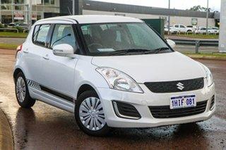 2013 Suzuki Swift FZ MY14 GL White 4 Speed Automatic Hatchback.