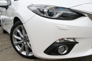 2014 Mazda 3 BM SP25 GT Snowflake White Pearl 6 Speed Automatic Hatchback.