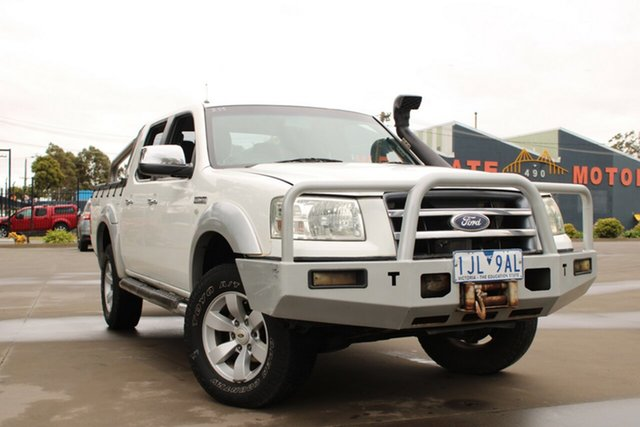 Used Ford Ranger PJ XLT (4x4) West Footscray, 2008 Ford Ranger PJ XLT (4x4) White 5 Speed Manual Dual Cab Pick-up