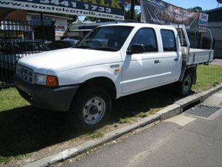 2002 Ford Courier PE 4X4 GL White 5 Speed Manual Dual Cab.