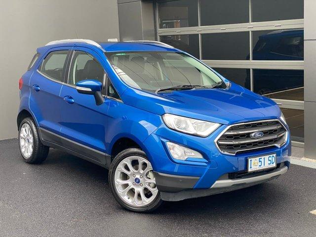 Used Ford Ecosport BL 2019.25MY Titanium Hobart, 2019 Ford Ecosport BL 2019.25MY Titanium Blue 6 Speed Automatic Wagon