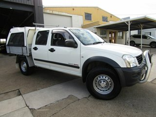 2003 Holden Rodeo RA LX Crew Cab White 5 Speed Manual Cab Chassis.