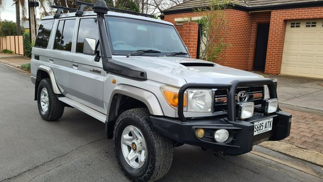 Used Toyota Landcruiser VDJ76R MY12 Update GXL (4x4) Prospect, 2012 Toyota Landcruiser VDJ76R MY12 Update GXL (4x4) Silver 5 Speed Manual Wagon