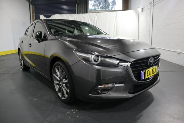 Used Mazda 3 BN5438 SP25 SKYACTIV-Drive Astina Castle Hill, 2016 Mazda 3 BN5438 SP25 SKYACTIV-Drive Astina Grey 6 Speed Sports Automatic Hatchback