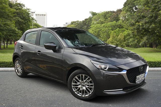 Demo Mazda 2 DJ2HAA G15 SKYACTIV-Drive GT Paradise, 2021 Mazda 2 DJ2HAA G15 SKYACTIV-Drive GT Machine Grey 6 Speed Sports Automatic Hatchback