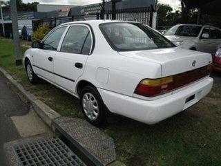 1997 Toyota Corolla AE101R CSi White 4 Speed Automatic Sedan.