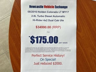 2016 Holden Colorado RG MY17 LT Pickup Crew Cab 4x2 White 6 Speed Sports Automatic Utility