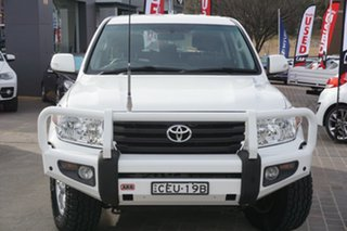 2012 Toyota Landcruiser VDJ200R MY10 GXL White 6 Speed Sports Automatic Wagon.