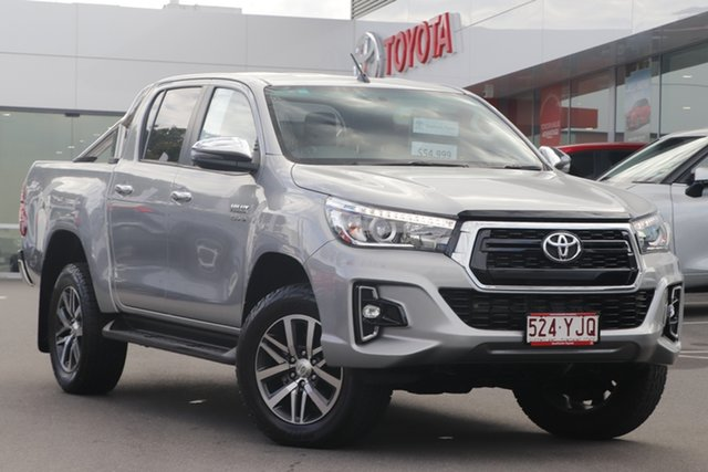 Pre-Owned Toyota Hilux GUN126R SR5 Double Cab Woolloongabba, 2018 Toyota Hilux GUN126R SR5 Double Cab Silver 6 Speed Sports Automatic Utility