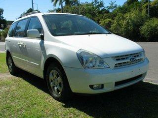 2008 Kia Carnival VQ Finance $68 Per Week White 5 Speed Automatic Wagon.