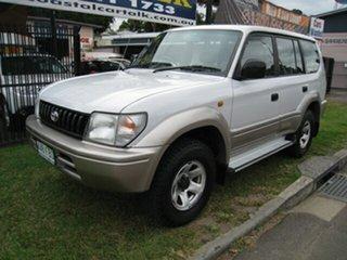1999 Toyota Landcruiser Prado VZJ95R GXL (4x4) White 4 Speed Automatic 4x4 Wagon.
