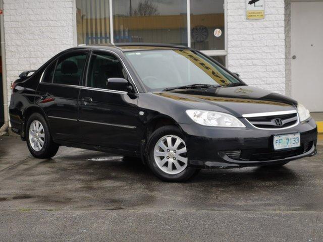 Used Honda Civic 7th Gen MY2004 GLi Derwent Park, 2005 Honda Civic 7th Gen MY2004 GLi Black/Grey 5 Speed Manual Sedan