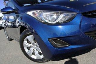2011 Hyundai Elantra MD Active Santorini Blue 6 Speed Manual Sedan.