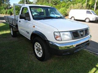 2000 Nissan Navara Finance $52 Per Week White 5 Speed Manual 4x4 Utility.