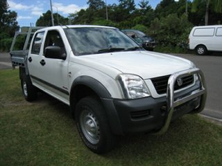 2006 Holden Rodeo RA MY06 Upgrade LX (4x4) White 5 Speed Manual Crew Cab Chassis
