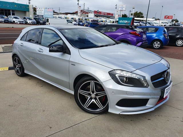 Used Mercedes-Benz A250 176 MY15 Sport Victoria Park, 2014 Mercedes-Benz A250 176 MY15 Sport Silver 7 Speed Automatic Hatchback