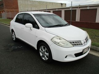 2012 Nissan Tiida C11 S3 ST White 4 Speed Automatic Sedan.