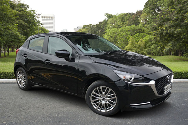 Demo Mazda 2 DJ2HAA G15 SKYACTIV-Drive Evolve Paradise, 2021 Mazda 2 DJ2HAA G15 SKYACTIV-Drive Evolve Jet Black 6 Speed Sports Automatic Hatchback
