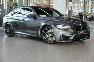 2018 BMW M3 F80 LCI Competition M-DCT Grey 7 Speed Sports Automatic Dual Clutch Sedan.