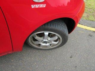 2008 Toyota Yaris NCP90R 08 Upgrade YR Red 5 Speed Manual Hatchback