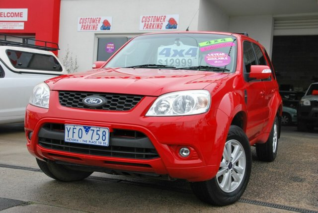 Used Ford Escape ZD Wendouree, 2010 Ford Escape ZD Red 4 Speed Automatic Wagon