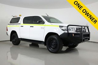2018 Toyota Hilux GUN126R MY17 SR (4x4) White 6 Speed Manual Dual Cab Utility.
