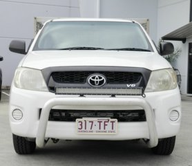 2008 Toyota Hilux GGN15R MY09 SR 4x2 White 5 Speed Automatic Cab Chassis.