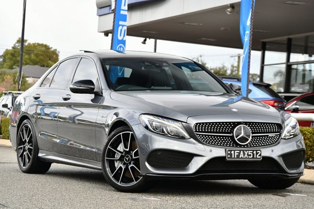 Used Mercedes-Benz C-Class W205 807+057MY C43 AMG 9G-Tronic 4MATIC Melville, 2017 Mercedes-Benz C-Class W205 807+057MY C43 AMG 9G-Tronic 4MATIC Grey 9 Speed Sports Automatic