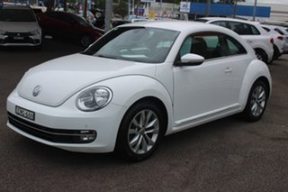 2015 Volkswagen Beetle 1L MY15 Coupe DSG White 7 Speed Sports Automatic Dual Clutch Liftback.