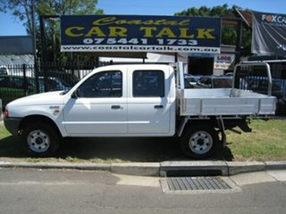 2002 Ford Courier PE GL White 5 Speed Manual Dual Cab.