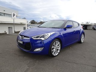 2011 Hyundai Veloster FS Coupe D-CT Blue 6 Speed Automatic Hatchback.