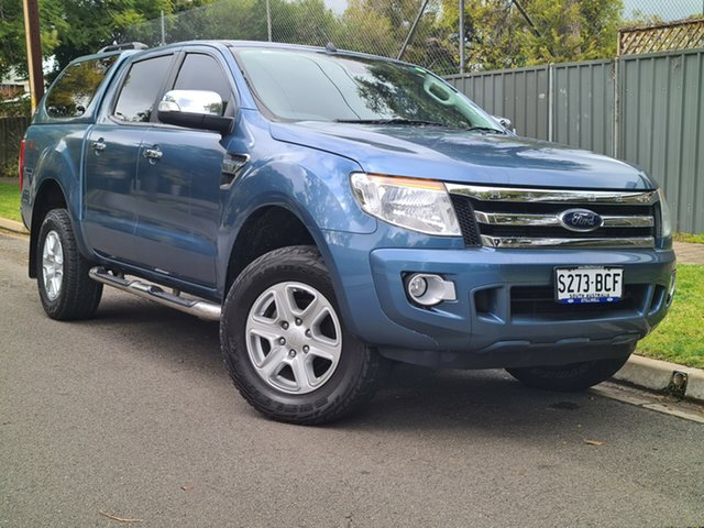 Used Ford Ranger PX XLT Double Cab Hyde Park, 2014 Ford Ranger PX XLT Double Cab Blue 6 Speed Sports Automatic Utility
