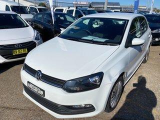 2014 Volkswagen Polo 6R MY15 66TSI DSG Trendline Pure White 7 Speed Sports Automatic Dual Clutch.