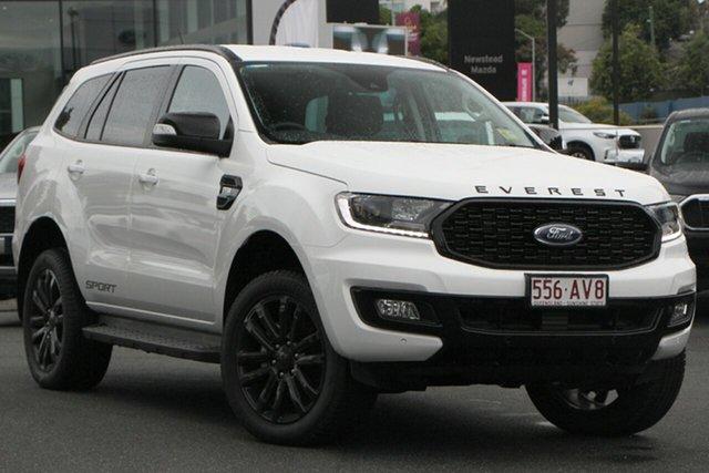 Demo Ford Everest UA II 2021.25MY Sport Newstead, 2020 Ford Everest UA II 2021.25MY Sport Arctic White 6 Speed Sports Automatic SUV