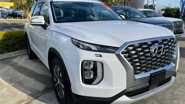 New Hyundai Palisade LX2.V1 MY21 2WD Moorooka, 2021 Hyundai Palisade LX2.V1 MY21 2WD White Cream 8 Speed Sports Automatic Wagon