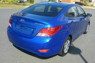 2012 Hyundai Accent RB Active Blue 5 Speed Manual Sedan.
