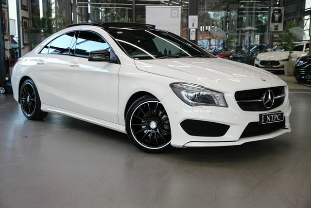 Used Mercedes-Benz CLA-Class C117 806MY CLA200 DCT North Melbourne, 2016 Mercedes-Benz CLA-Class C117 806MY CLA200 DCT White 7 Speed Sports Automatic Dual Clutch Coupe