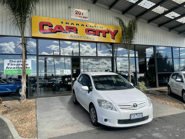 Used Toyota Corolla ZRE152R MY11 Ascent Traralgon, 2010 Toyota Corolla ZRE152R MY11 Ascent White 4 Speed Automatic Hatchback