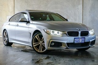 2014 BMW 4 Series F36 428i Gran Coupe M Sport Silver 8 Speed Sports Automatic Hatchback.