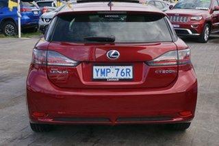 2013 Lexus CT ZWA10R MY13 CT200h Luxury Red 1 Speed Constant Variable Hatchback Hybrid