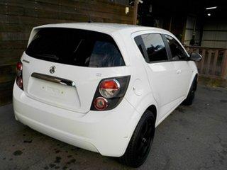 2013 Holden Barina TM MY14 CD White 6 Speed Automatic Hatchback