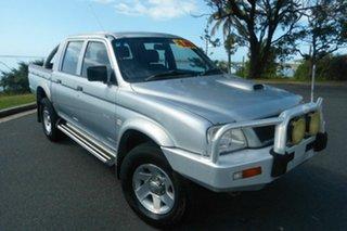 2005 Mitsubishi Triton MK MY05.5 GLX-R Double Cab Silver 5 Speed Manual Utility.