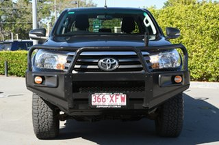 2017 Toyota Hilux GUN126R SR Double Cab Black 6 Speed Sports Automatic Cab Chassis