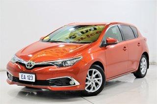 2016 Toyota Corolla ZRE182R Ascent Sport S-CVT Orange 7 Speed Constant Variable Hatchback.