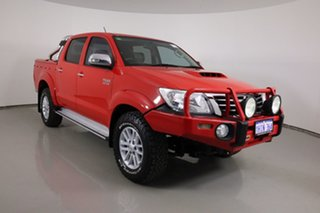 2014 Toyota Hilux KUN26R MY12 SR5 (4x4) Red 5 Speed Manual Dual Cab Pick-up.