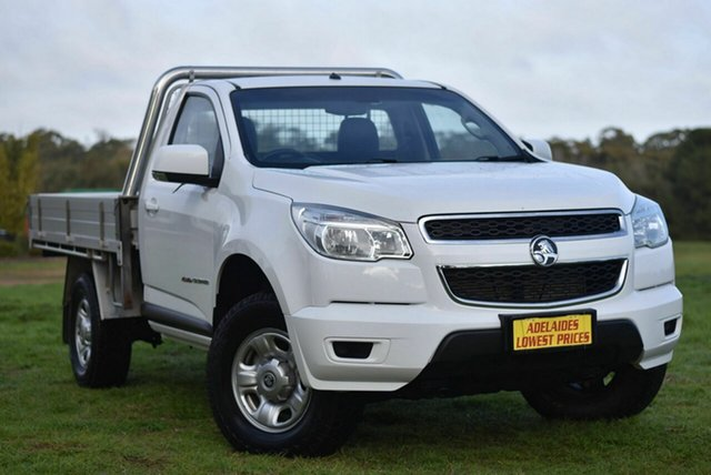 Used Holden Colorado RG MY16 LS Enfield, 2016 Holden Colorado RG MY16 LS White 6 Speed Manual Cab Chassis