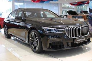 2021 BMW 7 Series G11 LCI 740i Steptronic Black Sapphire 8 Speed Sports Automatic Sedan.
