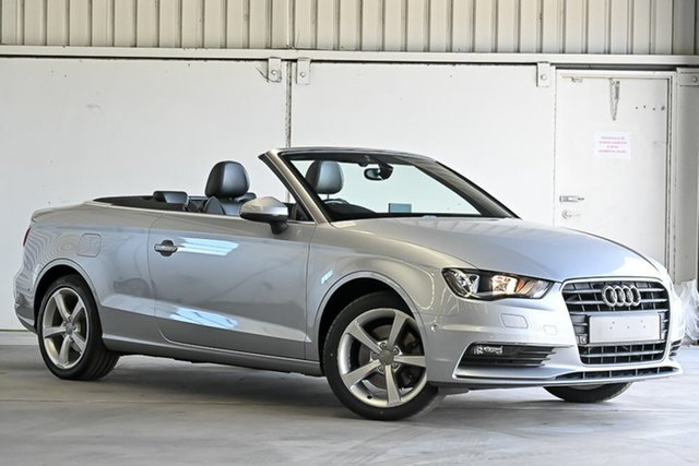 Used Audi A3 8V MY15 Ambition S Tronic Laverton North, 2014 Audi A3 8V MY15 Ambition S Tronic Silver 7 Speed Sports Automatic Dual Clutch Cabriolet